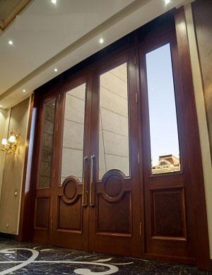 درب چوبی لابی