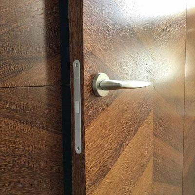 درب روکش چوبی فریم لس