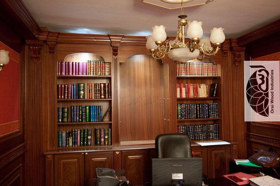 کتابخانه چوبی کلاسیک